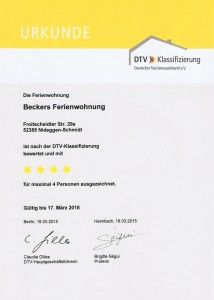 Zertifizierungsurkunde DTV